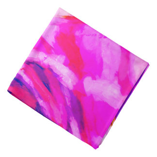 Abstract Pink and Blue Design Bandana