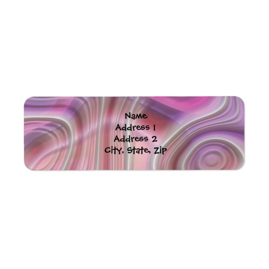 Abstract Pink and Purple Return Address Labels