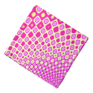 Abstract Pink And White Pattern Bandana