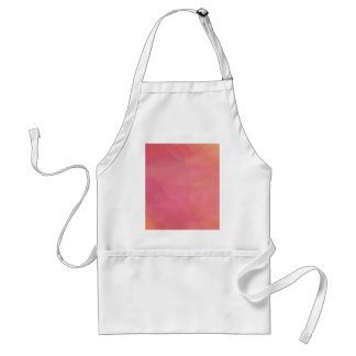 Abstract pink and yellow geometric background standard apron