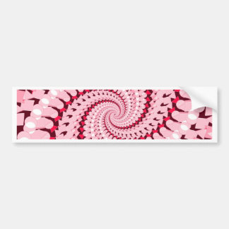 Abstract Pink Bumper Sticker