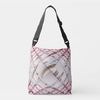 Abstract pink dynamic distorton texture. crossbody bag