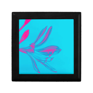 Abstract Pink Flower Keepsake Boxes