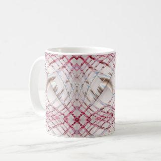 abstract pink irregular wavy dynamic pattern. coffee mug