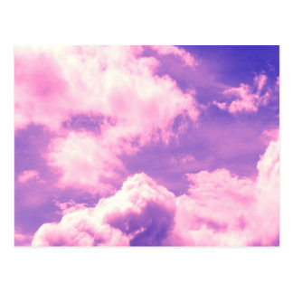 Abstract Pink Nebula Clouds Pattern Postcard