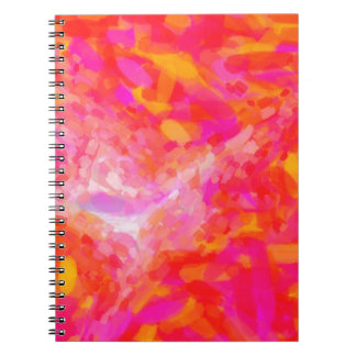 Abstract Pink Nebulla with Galactic Cosmic Cloud 3 Spiral Notebook