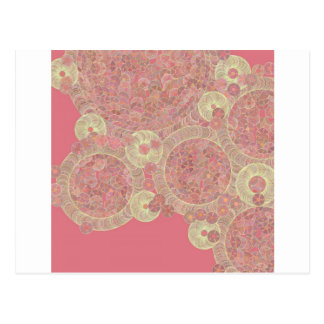 abstract pink pattern floral color personalize art post card