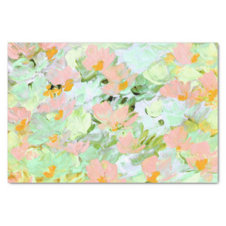 Abstract Pink Poppies Tissue Paper