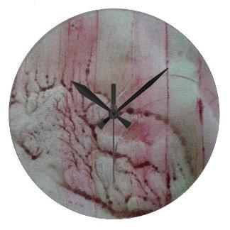 Abstract Pink Seaweed Wall Clock