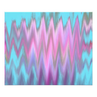 Abstract Pink Teal Girly Ikat Chevron Zigzag Photo