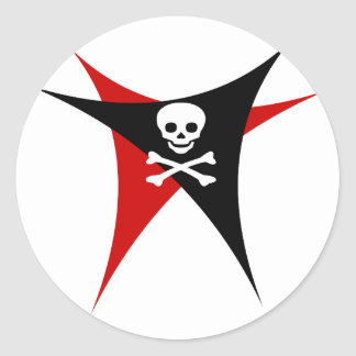 Abstract Pirate Flag Classic Round Sticker