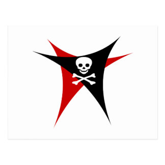 Abstract Pirate Flag Postcard