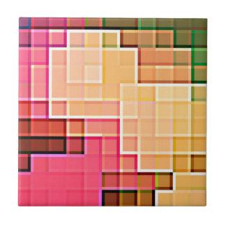 Abstract Pixel Pattern 1 Ceramic Tile