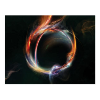 Abstract planet postcard
