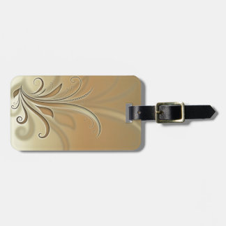 Abstract plant luggage tag