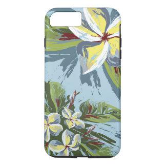 Abstract Plumeria Design iPhone 7 Plus Case