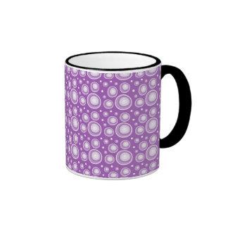Abstract Polka Dots Mugs:Purple