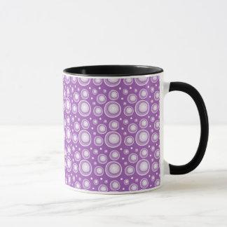 Abstract Polka Dots Mugs:Purple Mug