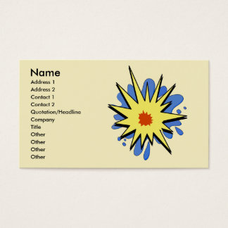 Abstract POP ,  , Add Text Business Card