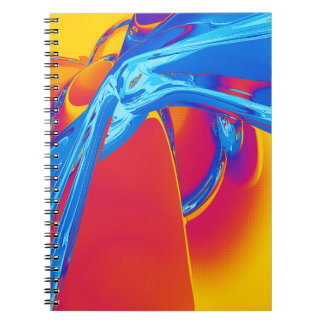 Abstract Pop Art Graphic Spiral Note Book