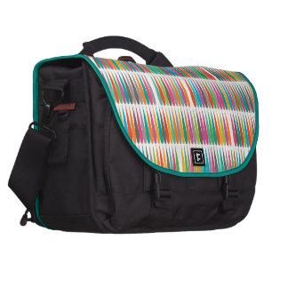 Abstract Pop art multicolor drops Commuter Bags