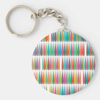 Abstract Pop art multicolor drops Key Chains