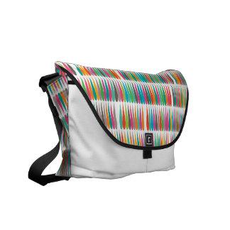 Abstract Pop art multicolor drops Messenger Bag