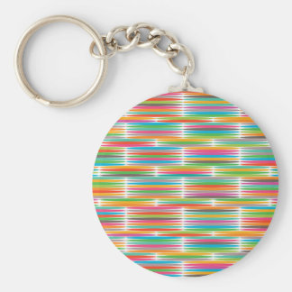 Abstract Pop art multicolor rainbow mosaic Key Chains