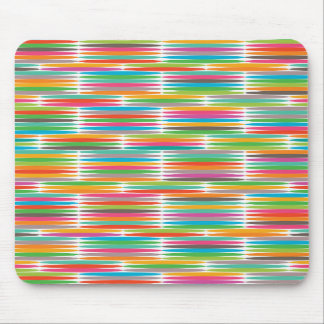 Abstract Pop art multicolor rainbow mosaic Mousepads