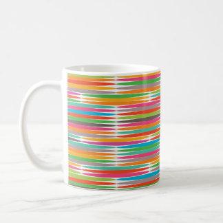 Abstract Pop art multicolor rainbow mosaic Mugs