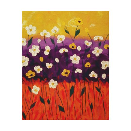 """Abstract Poppies 2"" by Linda Powell~Canvas Canvas Print"