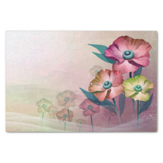 Abstract Poppies Tissue Paper