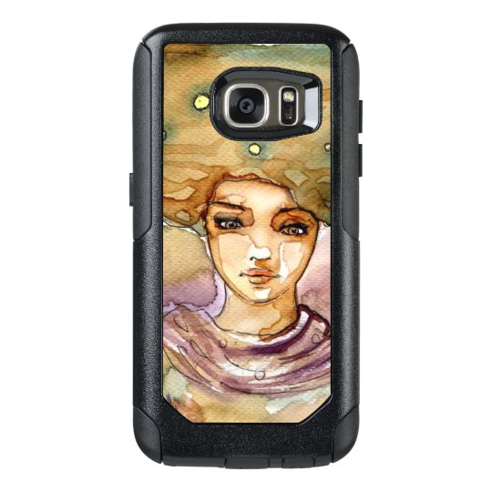 Abstract portrait and pretty woman OtterBox samsung galaxy s7 case