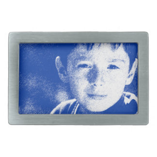 Abstract Portrait of a boy 2 Belt Buckle