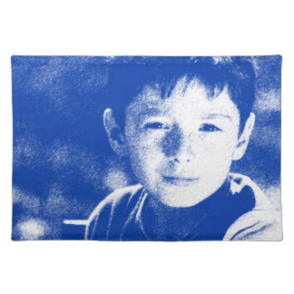 Abstract Portrait of a boy 2 Placemat
