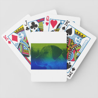 Abstract Portrait of a dog Bicycle Playing Cards