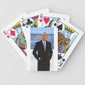 Abstract Portrait of President Barack Obama 10 Bicycle Playing Cards
