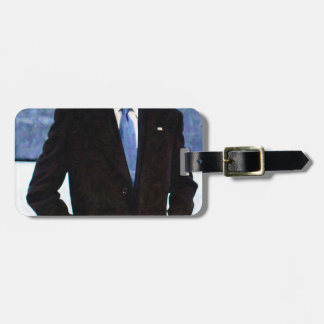 Abstract Portrait of President Barack Obama 10 Luggage Tag