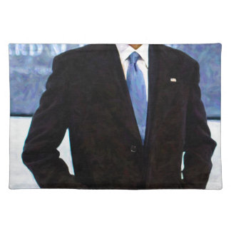 Abstract Portrait of President Barack Obama 10 Placemat