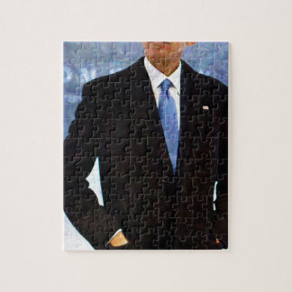 Abstract Portrait of President Barack Obama 10 Puzzles