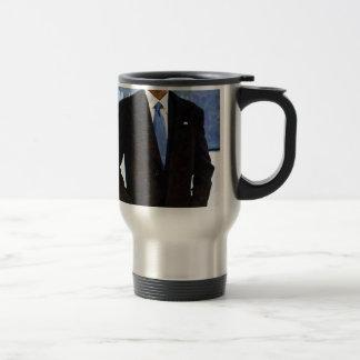 Abstract Portrait of President Barack Obama 10 Travel Mug