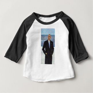 Abstract Portrait of President Barack Obama 10a.jp Baby T-Shirt