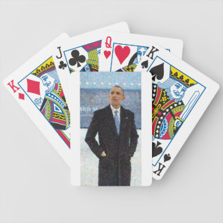 Abstract Portrait of President Barack Obama 10a.jp Bicycle Playing Cards