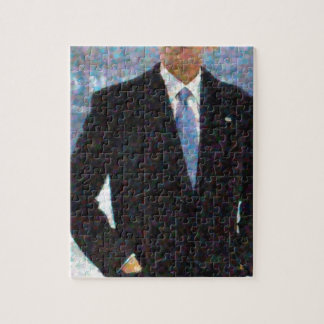 Abstract Portrait of President Barack Obama 10a.jp Jigsaw Puzzle