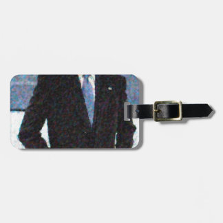 Abstract Portrait of President Barack Obama 10a.jp Luggage Tag