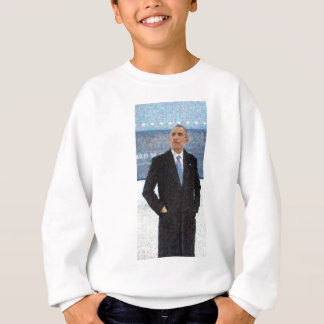 Abstract Portrait of President Barack Obama 10a.jp Sweatshirt