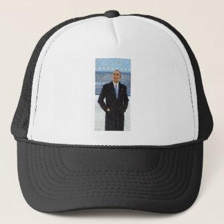 Abstract Portrait of President Barack Obama 10a.jp Trucker Hat