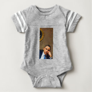 Abstract Portrait of President Barack Obama 11 Baby Bodysuit