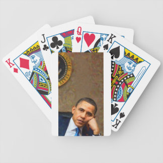 Abstract Portrait of President Barack Obama 11 Bicycle Playing Cards