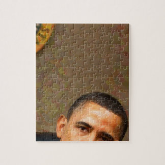 Abstract Portrait of President Barack Obama 11 Jigsaw Puzzle